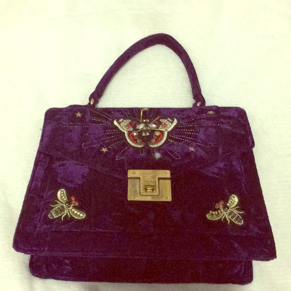 5e139843214 Aldo Handbags - Aldo butterfly purple velvet purse